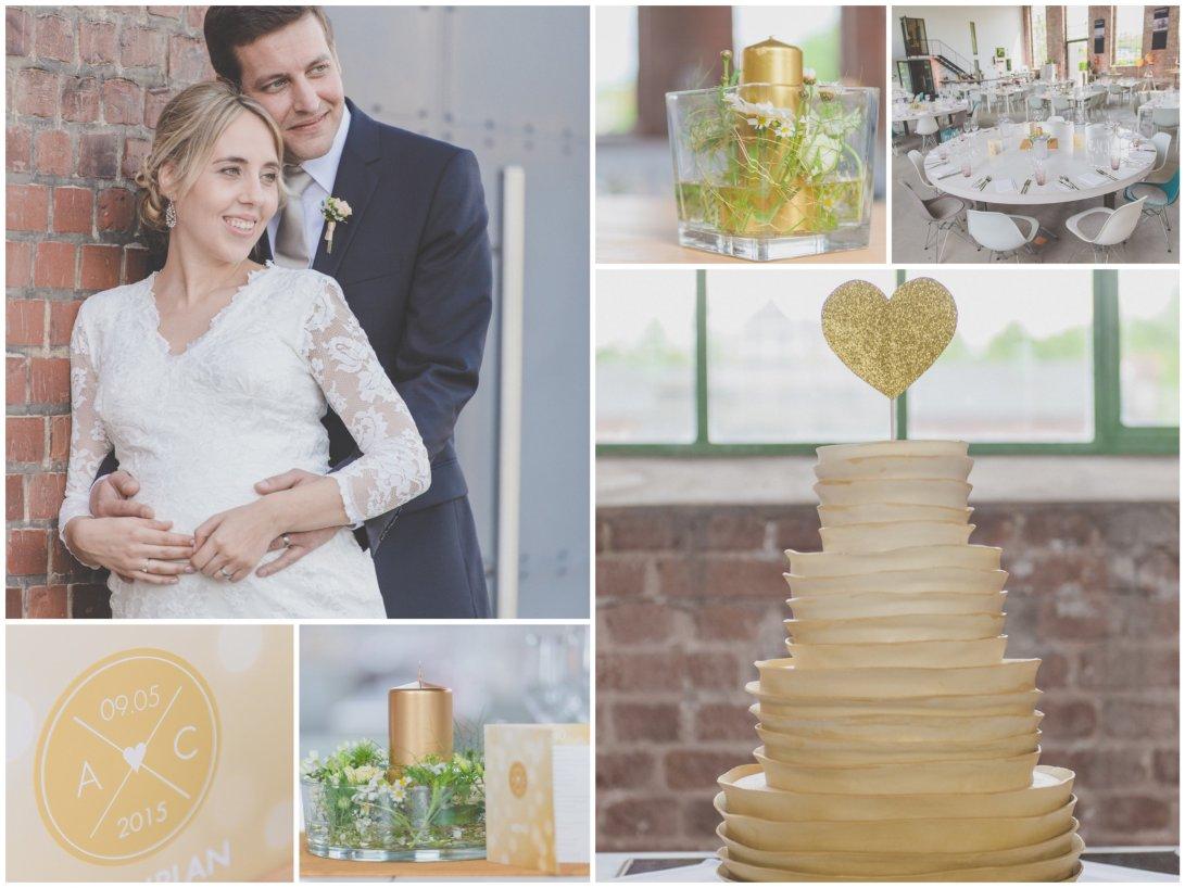 Hochzeitsplaner Dortmund Hochzeitskonzept Gold Modern Industrie Urban