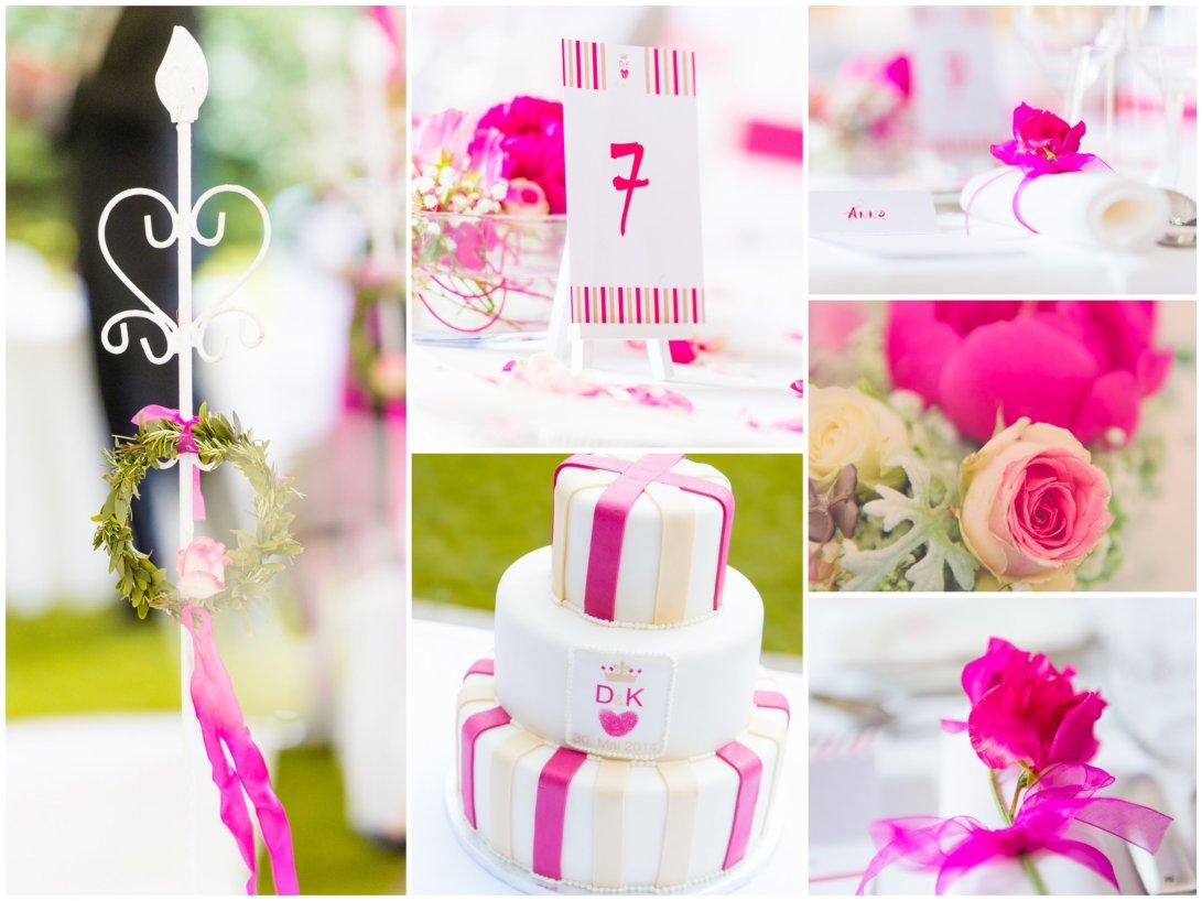 Hochzeitsplaner Muenster SportSchloss Velen Hochzeitskonzept Pink Romantisch