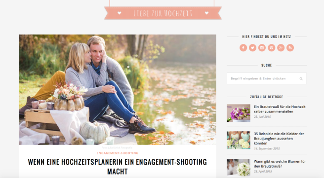 Hochzeitsplanerin heiratet Verlobungsshooting Bloh Liebe zur Hochzeit