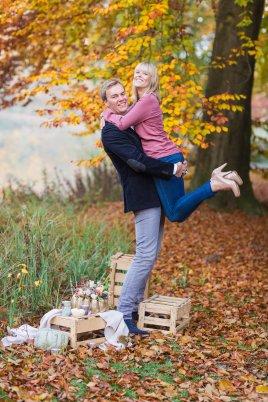 Hochzeitsplanerin heiratet Verlobungsshooting Herbst Hochzeitsfotograf Münster