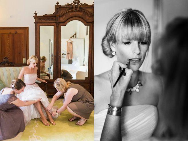 Hochzeitsplanerin heiratet Brautstyling Brautkleid
