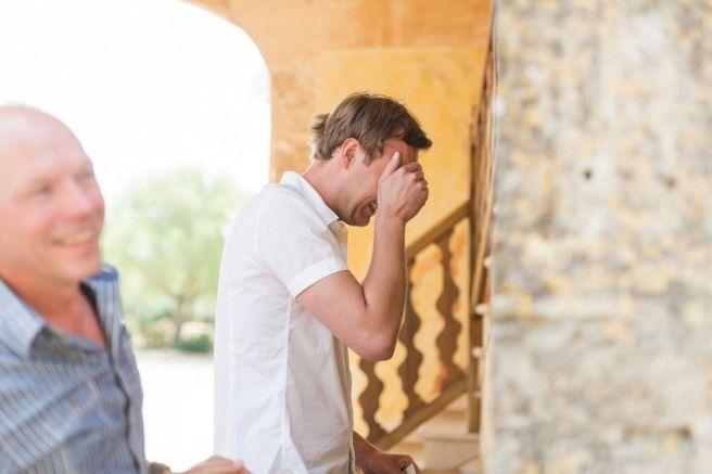Hochzeitsplanerin heiratet Mallorca Braeutigam Brautkleid
