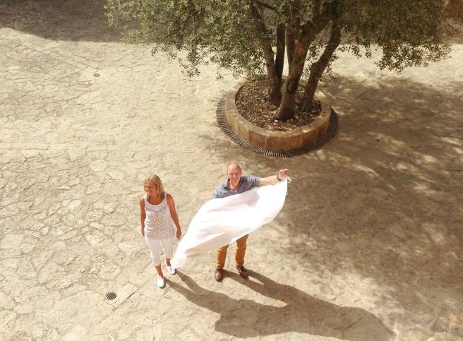 Hochzeitsplanerin heiratet Mallorca Brautkleid