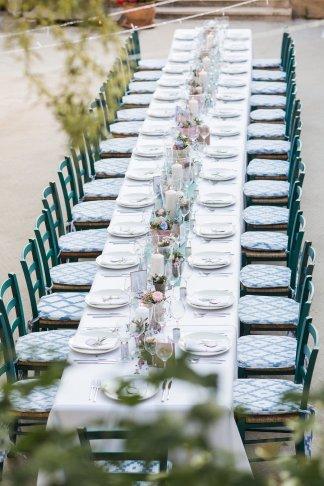 Hochzeitsplanerin heiratet Hochzeit Mallorca Dinner outdoor lange Tafel00001